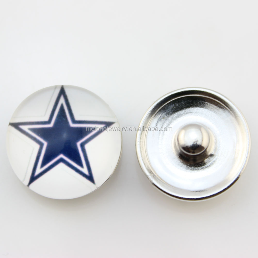 Fashion NFL Snap Jewelry Dallas Cowboys Snap Button Jewelry Wholesale