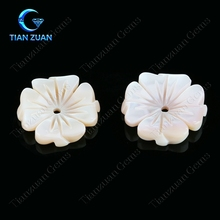 machine cut flower shape pink color pearl shell natural loose gemstone