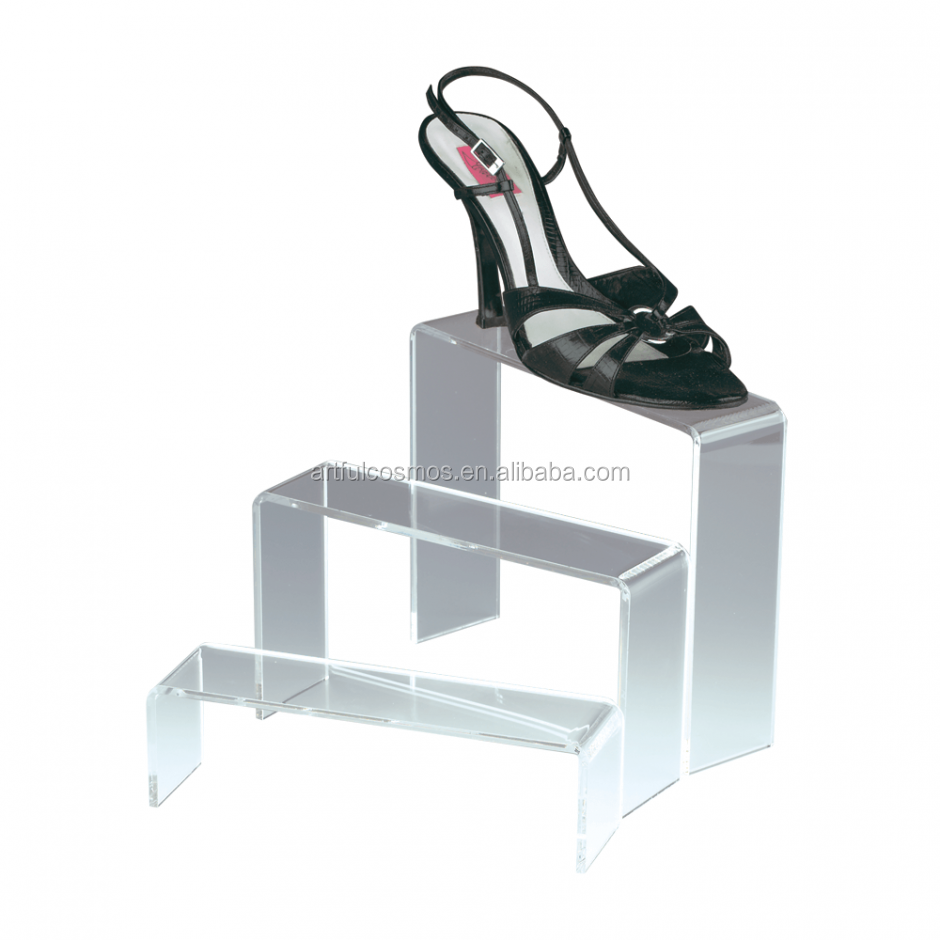 Manufacturer clear Color acrylic Shoe display for decoration