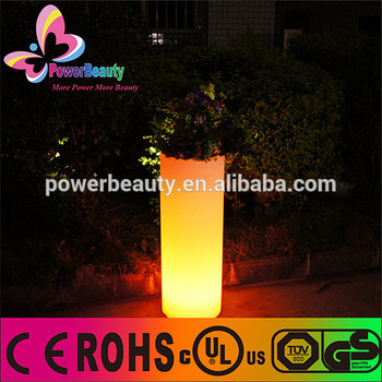 2015 high quality outdoor garden large plastic planters led lighted planter pots illuminated rechargeable LED garden flower pot