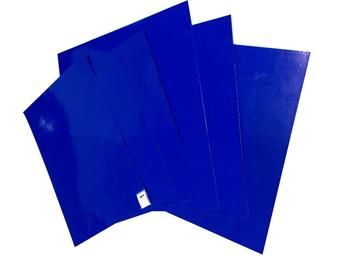 LDPE Disposable Walk Off Laboratory Blue Adhesive Mat