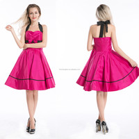 2014 Retro 50s Rockabilly Pinup Swing Evening Party Prom Vintage Retro Maxi Dresses