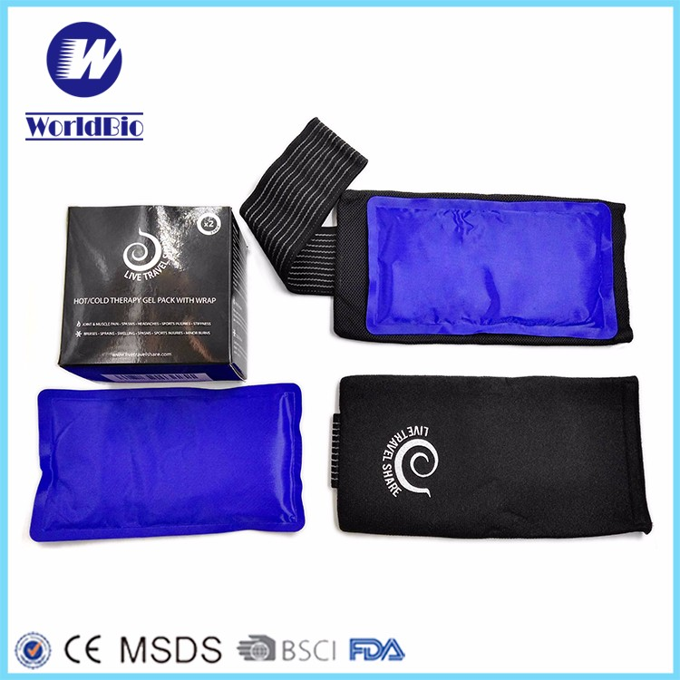 Therapy Gel hot cold Pack with Black Wrap waist belt with hot cold therapy