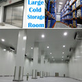 Cold storage room with storage racks inside