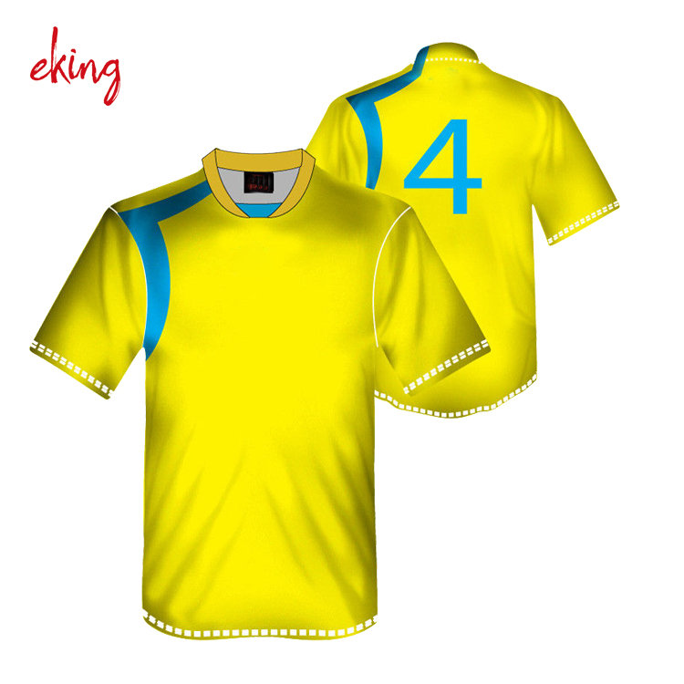 Custom top quality soccer jersey 100% polyester fabric with football teams uniform