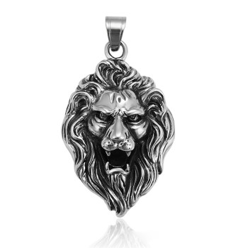 33410 xuping 패션 custom 횡포 큰 lion head design stainless 강 펜 던 트