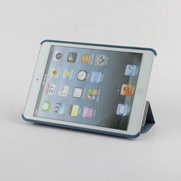 foldable stand leather case for ipad mini2