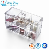 Design for disassembly stackable acrylic makeup storage boxes