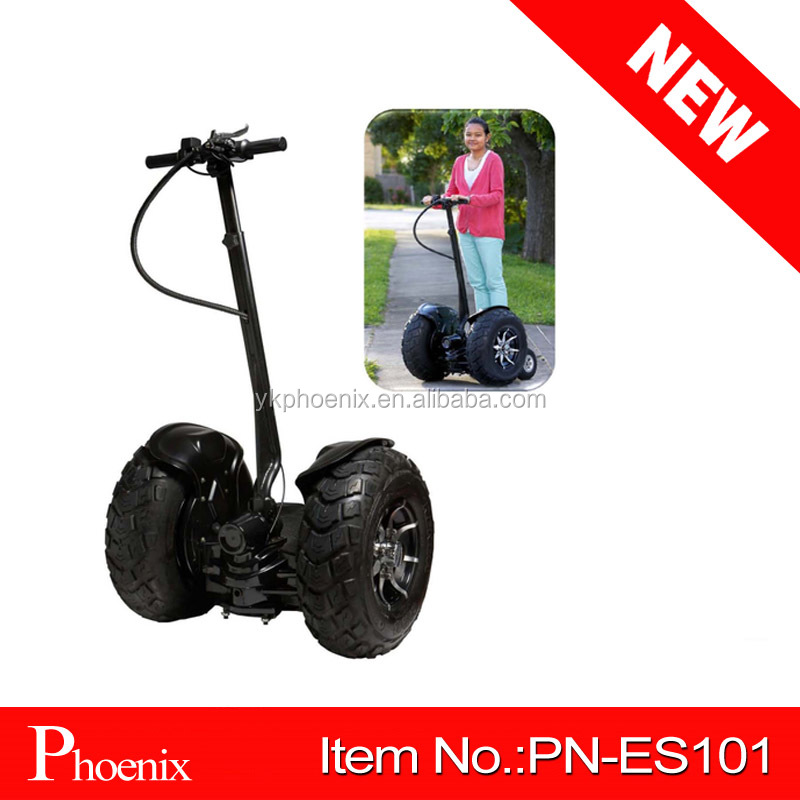 New arrived Off road electric scooter 1000W two wheel self balancing electric chariot ( PN-ES101 )