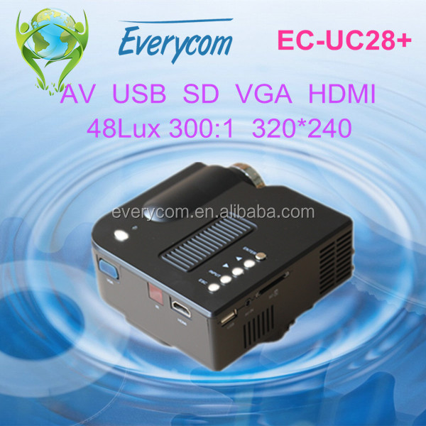 Plus FHD Led Projector with AV,USB,SD,VGA,HDMI 1080p mini HDMI projector