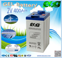 Maintenance free dry battery 2v400ah gel battery for ups usage