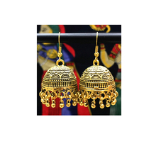 EH0482JN 2017 Wholesale vintage tribal saudi new designs gold jhumka indian india gold earrings jewelry handmade for women