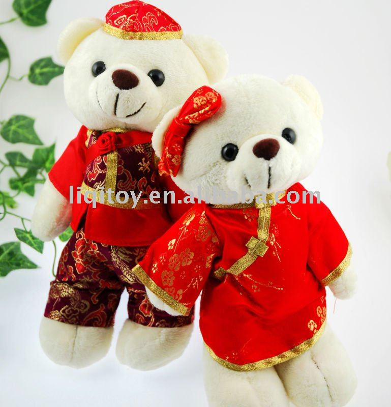 Cute marriage teddy bear plush toy