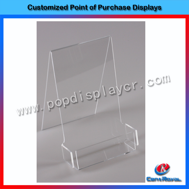 OEM/ODM customized design acrylic used brochure holders stand with mini MOQ
