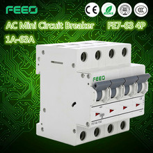 Overload protector 1P 2P 3P 4P 1-63A south africa south american circuit breaker speed breaker For overload Protection