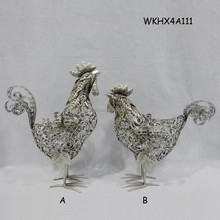 Online wholesale cheap metal rooster sculpture