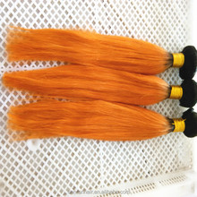 new products for direct sales orange straight brazilian hair