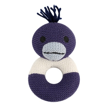 Wholesale Knitted Chrochet Rattle Baby Soft Rattle Toys