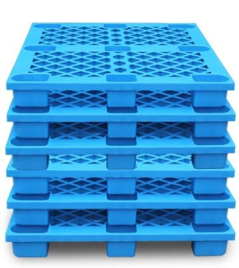 China cheap recycled plastic pallets for industrirlal storing trays plants oem