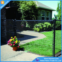 Beautiful look high quality green pvc coated chain link fence