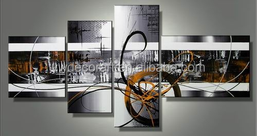 100% Handpainted modern canvas oil paiting abstract art for decoration