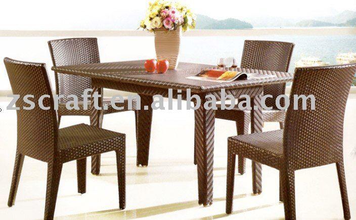 rattan cadeira e mesa de cozinha conjunto conjuntos de m veis de vime id do produto 342230056. Black Bedroom Furniture Sets. Home Design Ideas