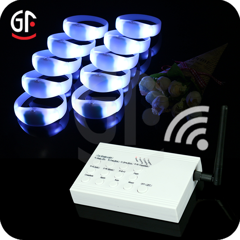 Wholesale Alibaba <strong>1000</strong>+ Meters Silicone Remote Control Led Bracelet