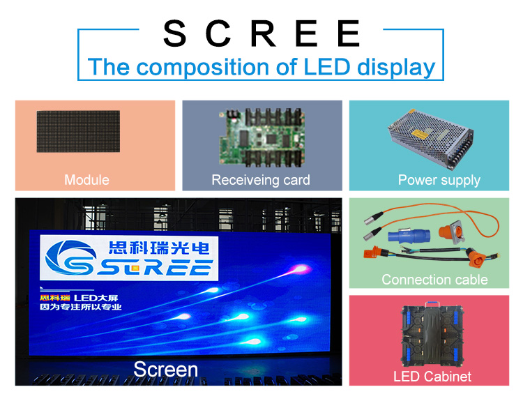 High resolution high refreshrate indoor die-casting P2.5 mobile led display 480*480mm