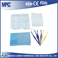 cheap price disposable hospital MPC individually packed sealed medical wound care use dressing instrument set