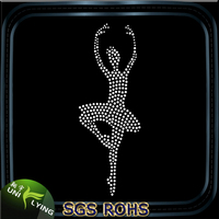 Wholesale Elegant Ballet Dancer Custom Rhinestone Transfer Designs