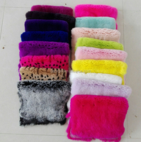 factory direct fashion lady's acrylic knit with rabbit fur /fur mitten