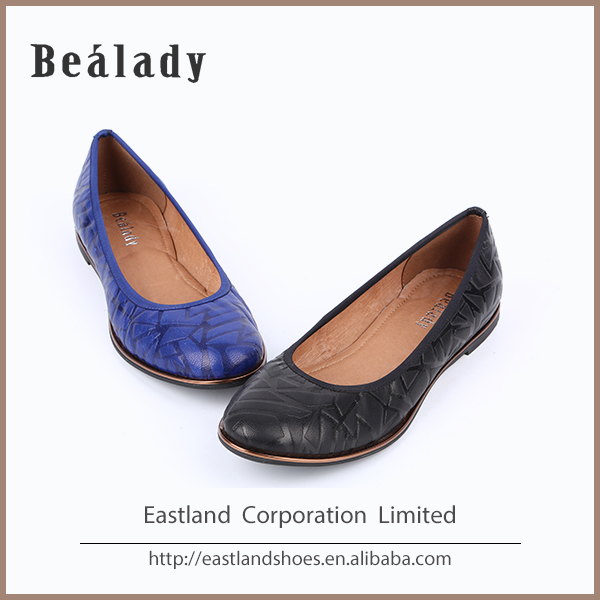 Newest cheap price fashion genuine leather ballerinas genuine cow leather women shoes