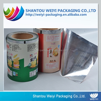 OEM automatic packaging aluminium foil film roll for snack food