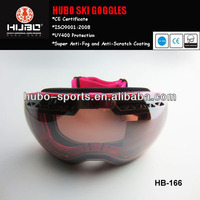 CE standard anti-fog big lens snow and skiing goggles