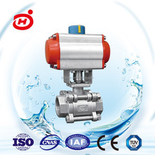 Stainless stell flange connection pneumatic ball valve