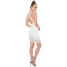 OEM Wholesales Women New Model Bodycon Clothes White Sexy Women Club Dress