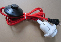 UL Certification and Plastic Material E26 lamp socket with power cord