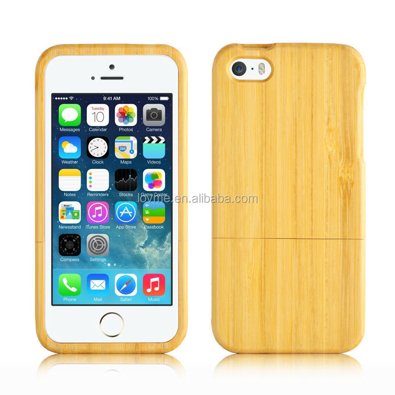 Ecru Bamboo Wood Stripe Back Case For Apple iPhone 5s