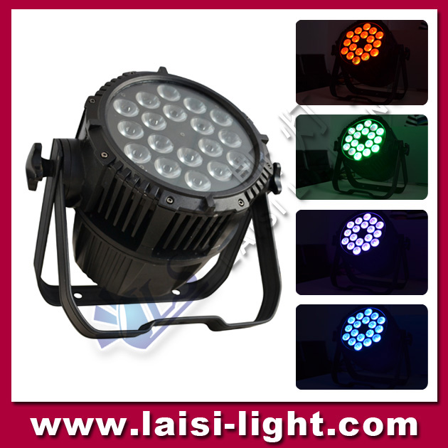 LS18pcs 4in1 / 5in1 LED Waterproof PAR Light, waterproof led par stage lighting, RGBW / A 18pcs led par64