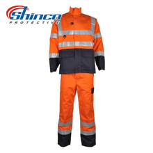 heated coveralls/winter overalls for adults/reflective industrial Coal Mine oil and gas Hi-vis Sets Professional Safety overall