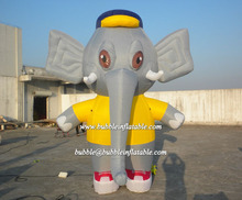 China good quality inflatable elephant model/big elephant ground balloon