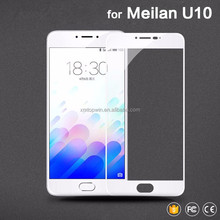 Shenzhen Xiamao Tempered Screen Guard for Meizu Meilan U10 U20 latest tempered glass Full Cover Silk Color tempered screen guard