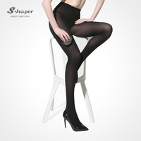 S-SHAPER Super Stretch Sexy Pantyhose Prevention Hook Sheer Transparent Silk Stockings