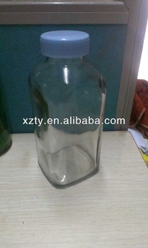 clear Juice glass bottle