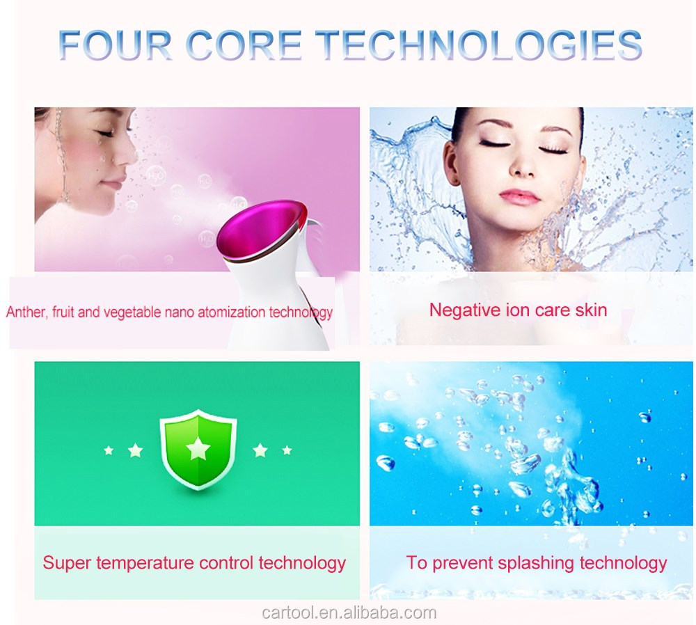 Portable Electric Nano Facial Mist Sprayer Facial Steamer For Spa