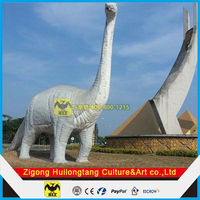 Huge outdoor decoration dinosaur in dino show
