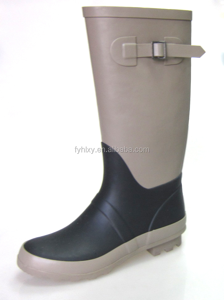Wholesale unique design women Wellies natural rubber rain boots