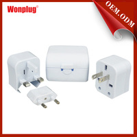 Wonplug all-in-one portable ac travel adaptors/usb travel adapter with CE&ROHS,great feshionable travel gifts