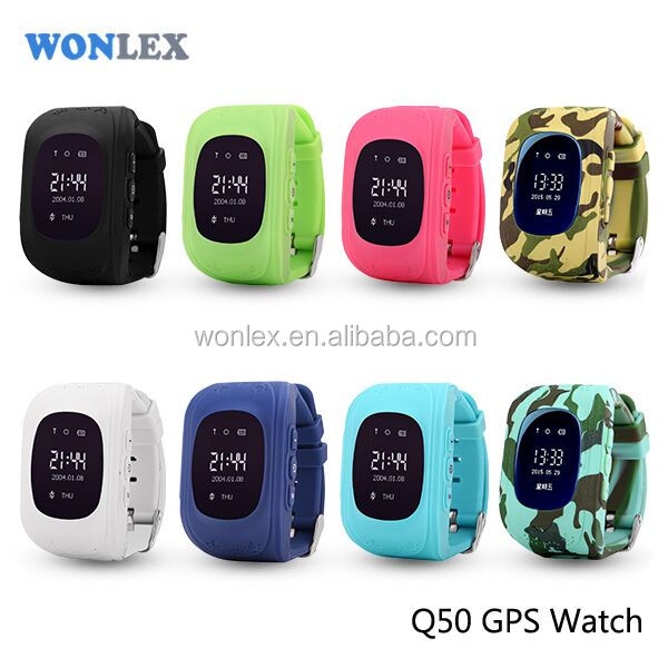 Black friday real time positioning gps tracker kids watch Q50 with anti jamming