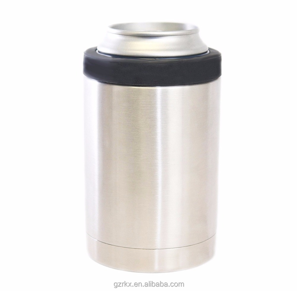 Double Wall Vacuum 18/8 Stainless Steel Can Insulated Beverage Holder,12oz Stainless Steel Can Cooler & Beer Bottle Insulator